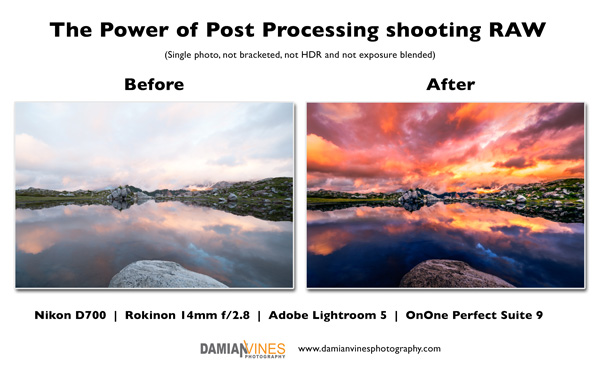 RAW Processing - Before and After - Damian Vines Photography