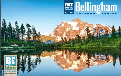 Mount Shuksan with Picture Lake reflection cover of Bellingham Visitors Guide