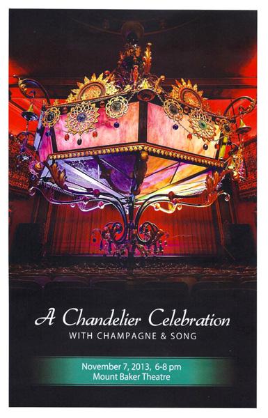 Mount Baker Theatre chandelier lowering event