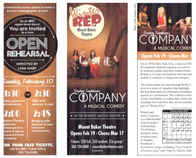 Promotional tri-fold for a Mount Baker production of Company