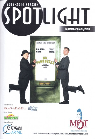 Spotlight magazine for Mount Baker Theatre The Producers play