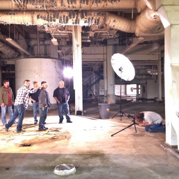 Behind the scenes album cover shoot Six Pack Pretty