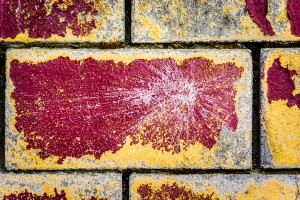 Abstract red and yellow textured Brick Wall Art