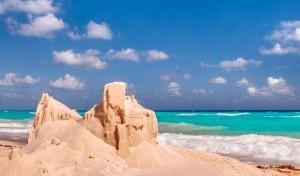 Cabo San Lucas Beach Sandcastle Blue ocean