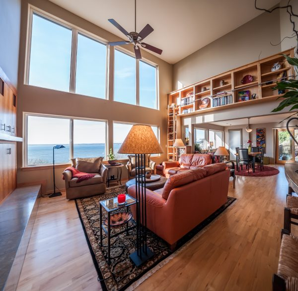 Interior real estate living room Templeton Home Feng Shui Bellingham