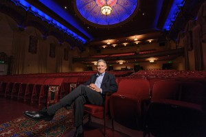 Portrait of a man in empty theater Mount Baker