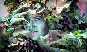 Photo of Living Vines Tree Girl leafy Camouflage