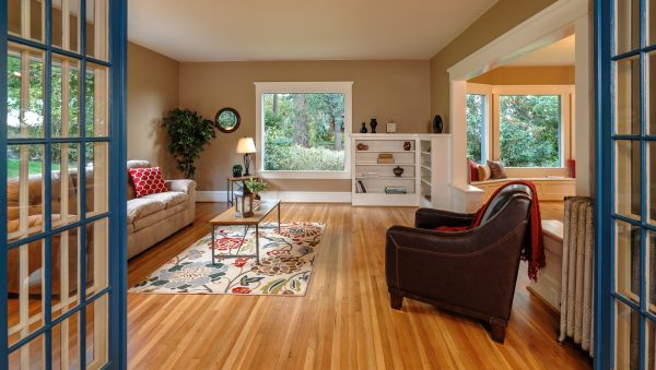 Beautiful living room in old home in Bellingham
