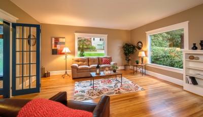 Living room real estate photo bellingham wa