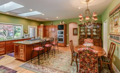 kitchen and dining room real estate photo