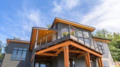 Real estate home shoot anacortes home blue sky